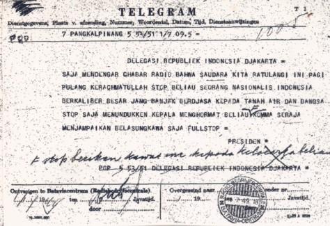 Telegram Bung Karno